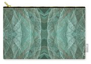 Crashing Waves Of Green 2 - Panorama - Abstract - Fractal Art Carry-all Pouch by Andee Design