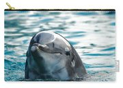 Curious Dolphin Carry-all Pouch by Mariola Bitner
