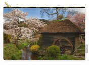Old Cherry Blossom Water Mill Carry-all Pouch by Sebastian Musial
