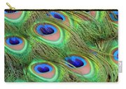 Peacock Feather Cascade Carry-all Pouch by Angelina Vick