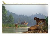 A Saber-tooth Hunting Deer Carry-all Pouch by Daniel Eskridge