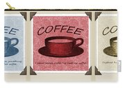 Coffee Flowers Scrapbook Triptych 1  Carry-all Pouch by Angelina Vick
