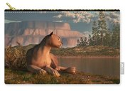 Cougar At Evening Carry-all Pouch by Daniel Eskridge