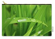 Rain Drops On Grass Carry-all Pouch by Trever Miller