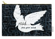 Read Free Your Mind Teal Carry-all Pouch by Angelina Vick