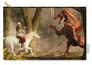 Saint George And The Dragon Carry-all Pouch by Daniel Eskridge
