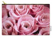 Soft Pink Roses Carry-all Pouch by Angelina Vick