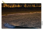 Sunset At The Beach Carry-all Pouch by Sebastian Musial