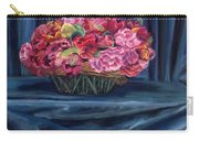 Fabric And Flowers Carry-all Pouch by Sharon E Allen