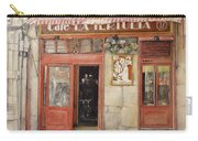 Old Cafe- Santander Spain Carry-all Pouch by Tomas Castano