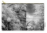 Western Auto In Winter Carry-all Pouch by Steve Karol