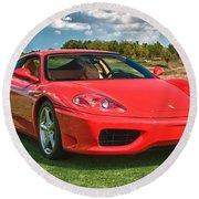 2001 Ferrari 360 Modena Round Beach Towel by Sebastian Musial