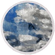 Day Dreamer Round Beach Towel by Angelina Vick