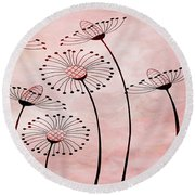 Field Of Flowers Within 3 Round Beach Towel by Angelina Vick