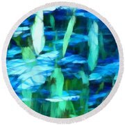Float 2 Horizontal Round Beach Towel by Angelina Vick