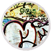 Girls Tag Too Round Beach Towel by Trever Miller