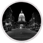Madison Wi Capitol Dome Round Beach Towel by Trever Miller