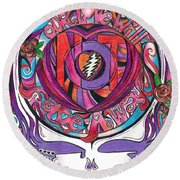 Not Fade Away Round Beach Towel by Kevin J Cooper Artwork