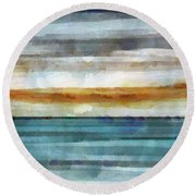 Ocean 1 Round Beach Towel by Angelina Vick