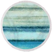 Ocean 4 Round Beach Towel by Angelina Vick