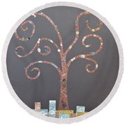 The Menoa Tree Round Beach Towel by Angelina Vick
