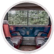Trans Siberian Express Round Beach Towel by Trever Miller