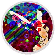 Wondrous At The End Of The Rainbow Round Beach Towel by Angelina Vick