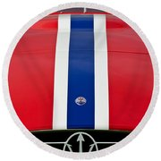 1956 Maserati 350 S Round Beach Towel by Jill Reger