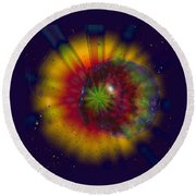 Cosmic Light Round Beach Towel by Linda Sannuti