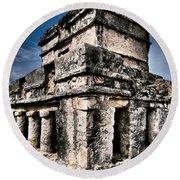 Tulum Ruinas 1 Round Beach Towel by Skip Hunt