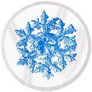 Snowflake Vector - Gardener's Dream White Version Round Beach Towel by Alexey Kljatov