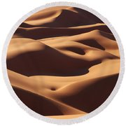 Curves Round Beach Towel by Ivan Slosar