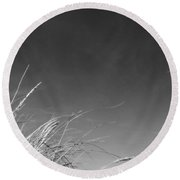 Dune Grass With Sky Round Beach Towel by Michelle Calkins