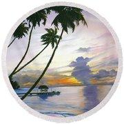 Eventide Tobago Round Beach Towel by Karin  Dawn Kelshall- Best