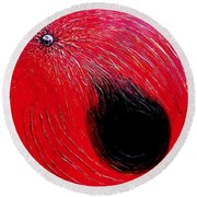Falling In To Passion Round Beach Towel by Ian  MacDonald