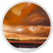 Jetties On The Shore Round Beach Towel by James Christopher Hill