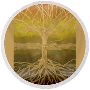 Meditation Round Beach Towel by Leah  Tomaino