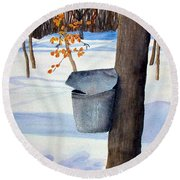 Nh Goldmine Round Beach Towel by Sharon E Allen