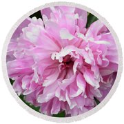 Peony Perfection Round Beach Towel by Angelina Vick