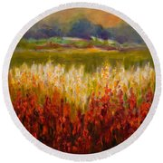 Santa Rosa Valley Round Beach Towel by Shannon Grissom
