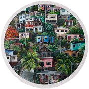 The Hill     Trinidad  Round Beach Towel by Karin  Dawn Kelshall- Best