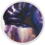 The Lightning Round Beach Towel by James Christopher Hill