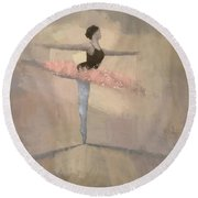 The Pink Tutu Round Beach Towel by Steve Mitchell