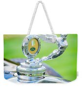 1931 Ford Model A Deluxe Fordor Hood Ornament Weekender Tote Bag by Sebastian Musial
