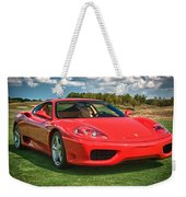 2001 Ferrari 360 Modena Weekender Tote Bag by Sebastian Musial