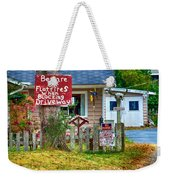 Beware Of Flat Tires Weekender Tote Bag by Trever Miller