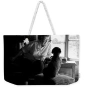 Cabin Chat Weekender Tote Bag by Trever Miller
