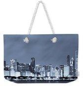 Chicago In Blue Weekender Tote Bag by Sebastian Musial