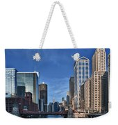 Chicago River Weekender Tote Bag by Sebastian Musial