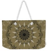 Coffee Flowers 3 Olive Ornate Medallion Weekender Tote Bag by Angelina Vick